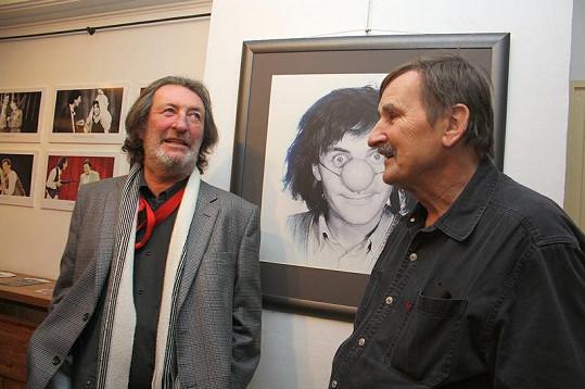 Bolek Polívka s dvorním fotografem Manéže Kratochvílem.