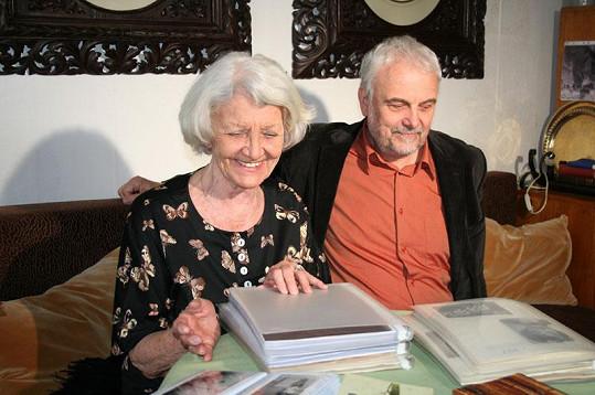 Heda Čechová měla se synem Vladimírem krásný vztah.