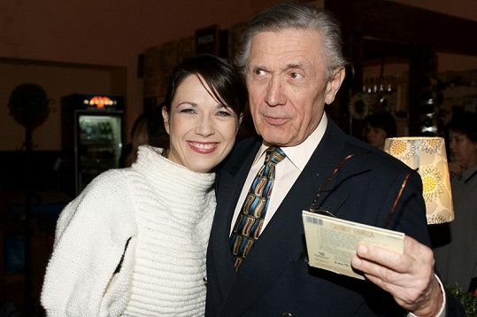 Petr Kostka svou dceru podporuje i při akcích Nadace Veselý senior.