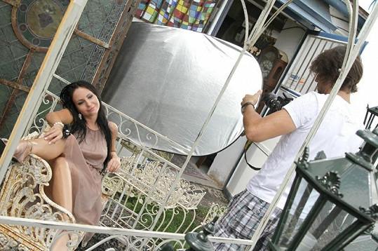 Fotit Veroniku bylo pro fotografa Daniela Zahrádku víc zábavou než prací.