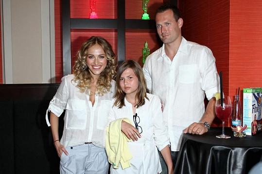 Renata Langmannová s přítelem Ondřejem a dcerou Trinity