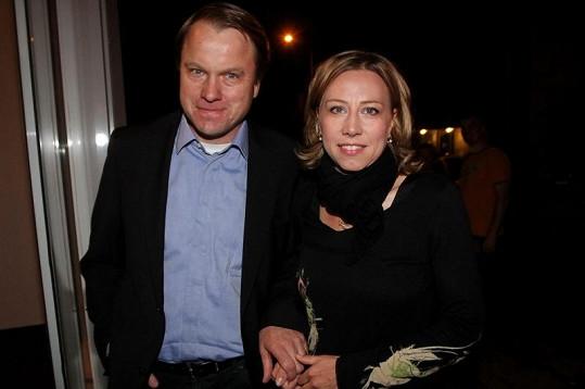 Politici Martin Bursík s Kateřinou Jacques.