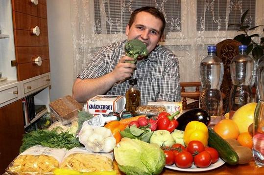 Se zdravým stravováním nebyl soutěžící spokojený.