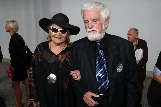 Gabriela Vránová se svým manželem.