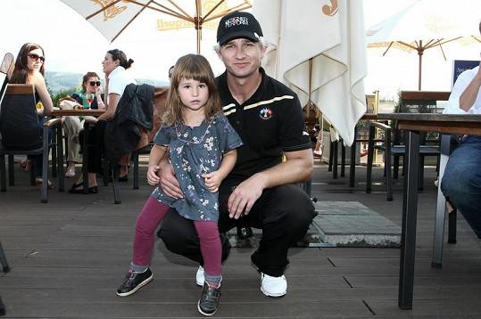 Kryštof Michal s dcerou.