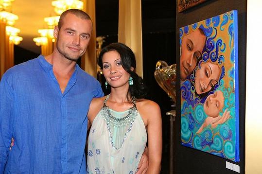 Adéla se svým miláčkem Petrem Markem.