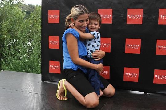 Eva Decastelo se synem Michálkem
