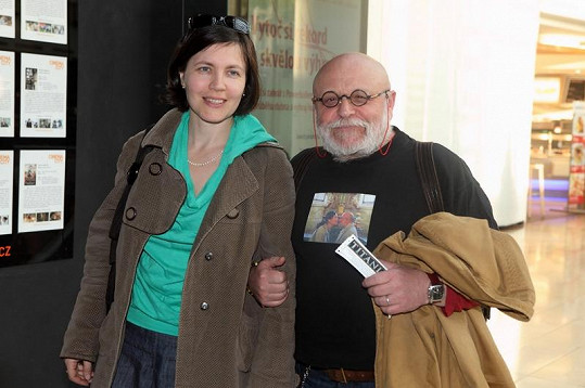 Arnošt Goldflam s manželkou Petrou.