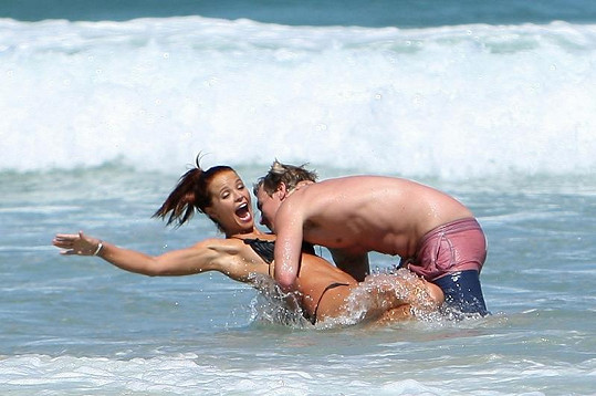 Lauren s přítelem Edem Cherrym.