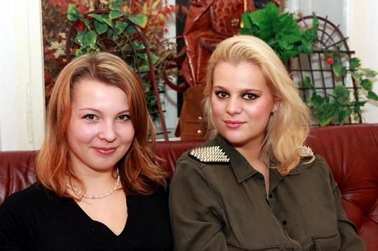Ornella Štiková s kmotrou očekávaného miminka Janou.
