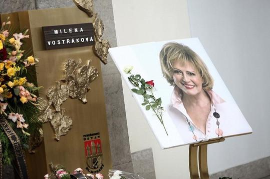 Pohřeb Mileny Vostřákové.