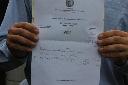 Italský doktor má jasno, co Ivetě Bartošové pomůže. Tady je seznam léčiv.