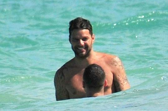 Ricky Martin s Carlosem v Miami.