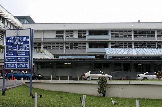 Nemocnice, v níž bojoval o život Rihannin otec Ronald.