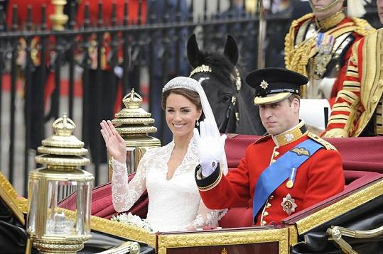 29. duben 2011 - Kate Middleton a princ William