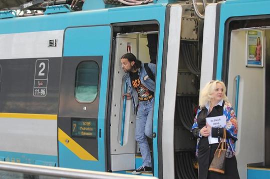 Kateřina Hamrová čekala na Rudu u správného vagónu.
