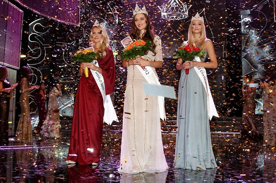 Trojice vítězek pro rok 2012.