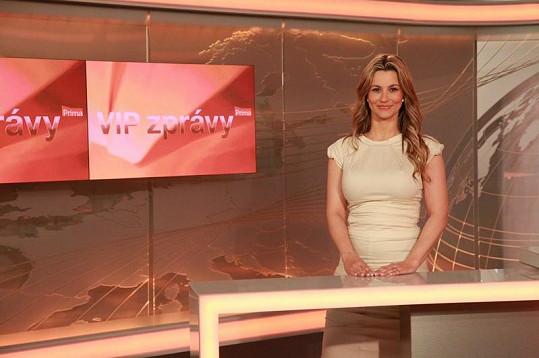Monika Marešová také chtěla moderovat VIP zprávy.