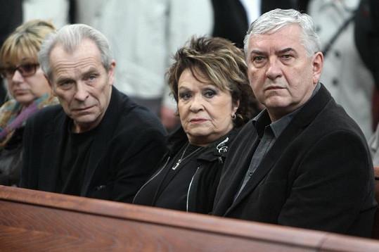 Alois Švehlík, Jiřina Bohdalová a Miroslav Donutil.