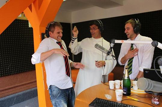 Tomáš Zástěra a Tomáš Novotný se nechali posvětit.