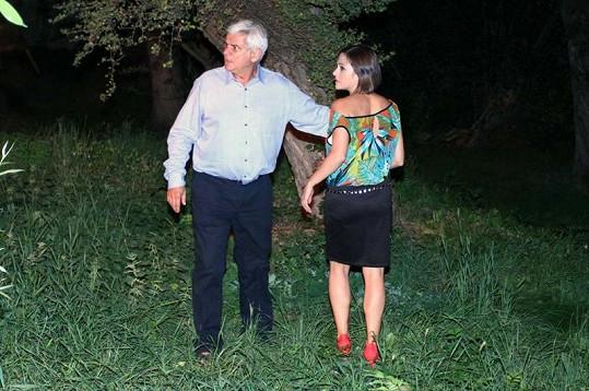 Kristýna Janáčková se svým seriálovým otcem Petrem Štěpánkem.