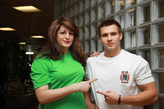 Krupská se svým kondičním trenérem Martinem Rudou.