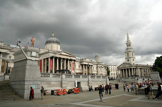 Eric Page na Trafalgarském náměstí.