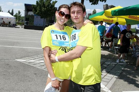 Denisa s přítelem Petrem.