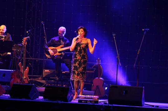 Marie Rottrová na koncertě v Žilině.