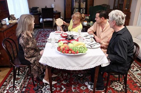 Jana Šulcová během slavnostní večeře.