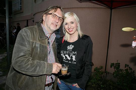 Dalibor Janda s dcerou Jiřinou.