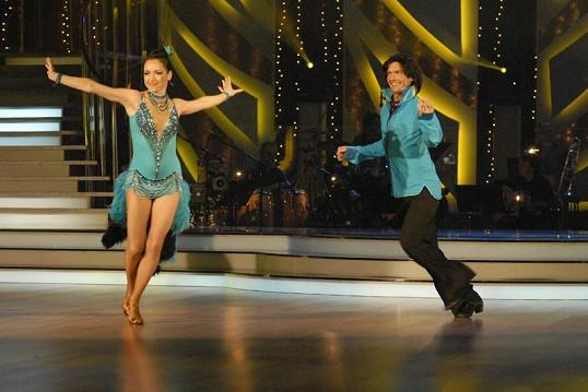 Tatiana Vilhelmová tančila s Petrem Čadkem.