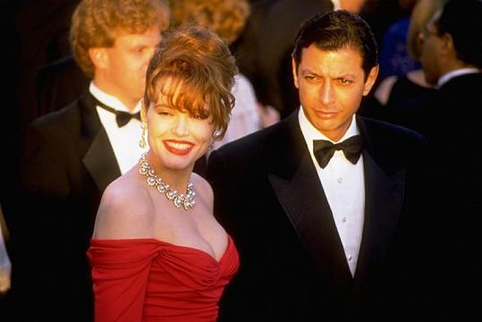 Jeff Goldblum a Geena Davis v roce 1990.