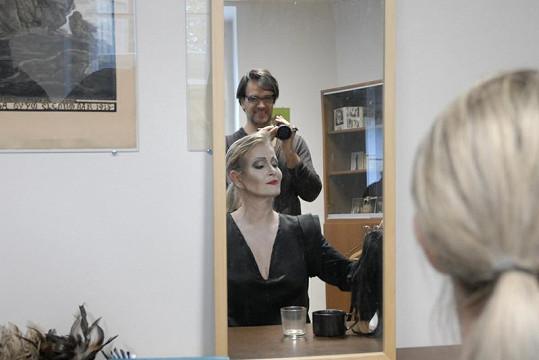 Chantal v maskérně.