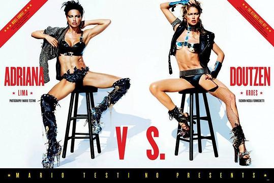 Adriana Lima a Doutzen Kroes na obálce magazínu V.