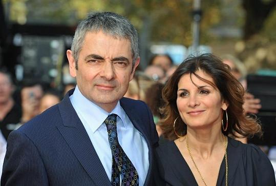Rowan Atkinson s manželkou.
