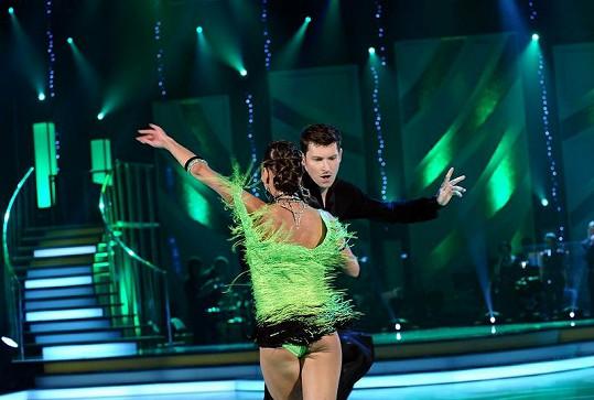 David Švehlík a zadeček jeho tanečnice.