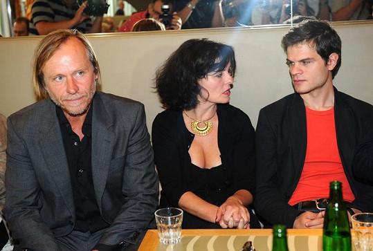 Karel Roden, Jana Krausová a její syn Adam Kraus.