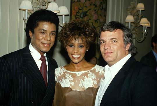 Whitney a Jermaine v roce 1986 na párty po předávání hudebních cen Grammy.