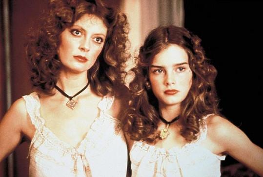 Sarandon s mladou Brooke Shields ve filmu Děvčátko z roku 1978.