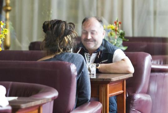 Michal David a Simona Fehérová se před časem sešli v restauraci.