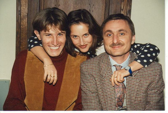 To už je historie. Renáta Dlouhá s Pavlem Poulíčkem (vlevo) a Václavem Tittelbachem.