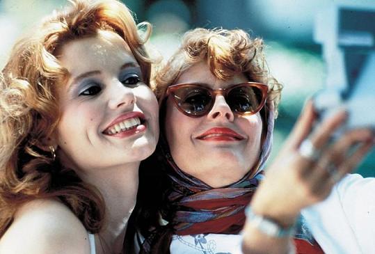 Geena se Susan Sarandon ve svém nejslavnějším filmu Thelma a Louisa. Druhou nominaci na Oscara tenkrát neproměnila.