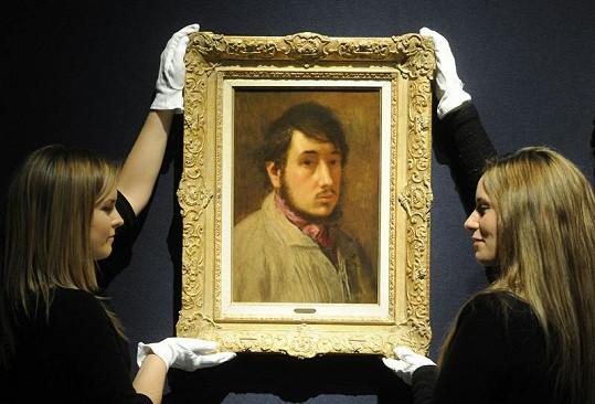 Autoportrét Edgara Degase se vydražil za téměř 22 miliónů korun.