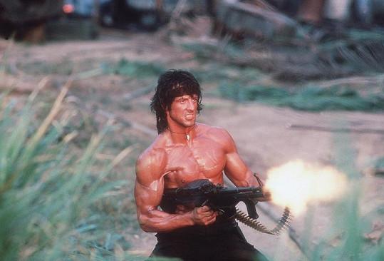 Sylvester Stallone ve filmu Rambo II.