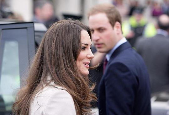 Princ William s Kate Middletonovou týden před svatbou.