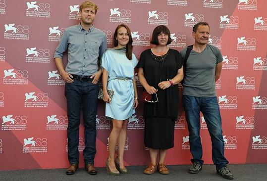 Režisér snímku Tomáš Luňák, Tereza Voříšková, Marie Ludvíková a herec Miroslav Krobot.