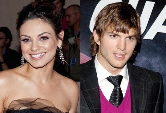 Ashton Kutcher a Mila Kunis spolu údajně randí.