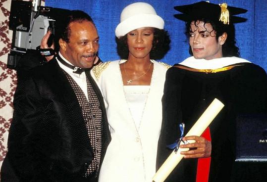 Whitney si přišla s Michaelem i pro jeho doktorát z Fisk University.