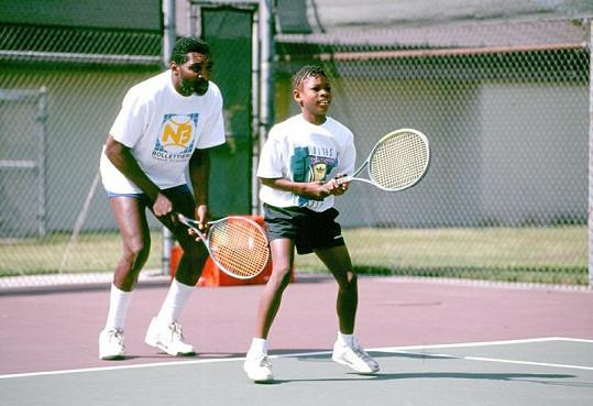 Devítiletá Serena s otcem.